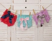 Baby girls lace ruffle bloomers with bow-lace diaper cover with bow-baby bloomers-photo prop-baby shower gift-cake smash