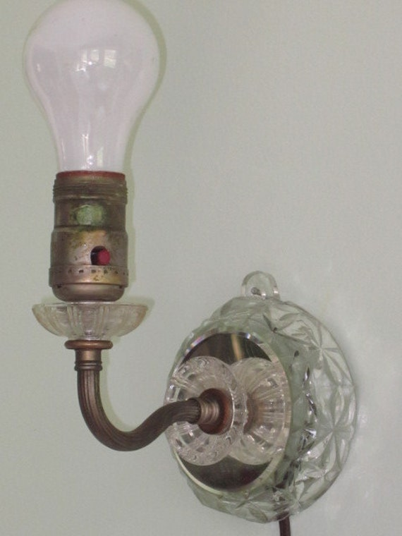 Installing Wall Sconces Electric : Vintage Crystal Mirrored Electric Wall Sconce Light Fixture