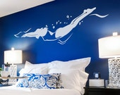Freestyle Swimmer Wall Decal - Swimmer Sticker, Swimmer Decal, Gift For Swimmer, Swimming Art, Pool Decor, Sports Wall Decal Sticker