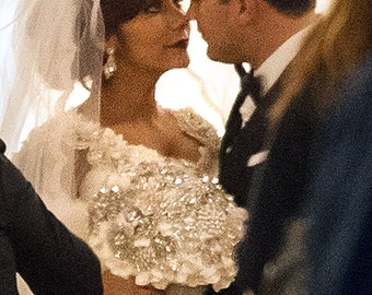 Crystal Brooch Bouquet Similar to Snooki Nicole LaValle's
