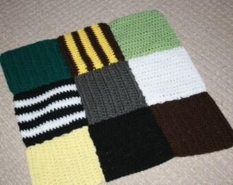 Crochet Jungle Baby Blanket. Measures 45cm square