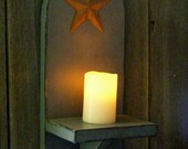 Primitive Wall Decor Candle Decor Candle Holder Shelf