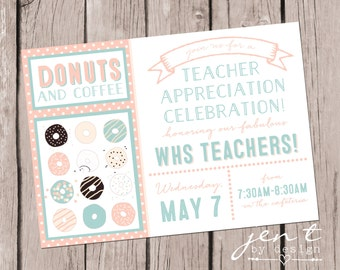 Donut Invitations for Teacher Appreciation Week