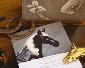 Model Muses I - Original Photography, Vintage Ceramic Horse Figurine Note Cards, Set of Five