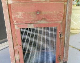 antique speaker cabinet/ one door cabinet