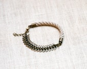 HELLAS Rope and Fishbone chain Bracelet