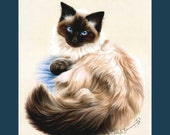 Ragdoll Cat Print Faithful by Irina Garmashova