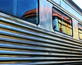 """Fine Art Train Photography Vintage Reflection """"Side By Side"""" 8x12"""