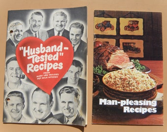 CLEARANCE SALE ~ Free Shipping ~Man-Pleasing Recipes - 1971, Husband-Tested Recipes - 1954