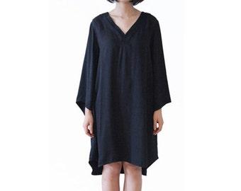 Woman Dress Day Dress Black Dress Dreamy Dress Loose Dress