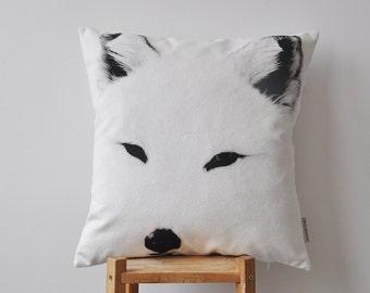 """NEW! Fox Pillow, Decorative Pillows, Kids Pillows, Nursery Pillow, Throw Pillow, Monochrome Teen Pillow 18""""x18"""""""