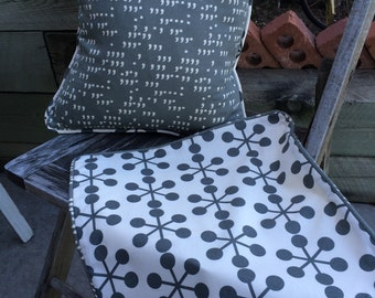 Decorative Gray Pillow Shams- set of 2