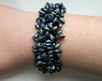 Bash Gunmetal Grey Iris Chunky Beaded Bracelet - Inspired by Reign Series
