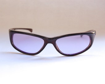 Vintage 90s NOS Dead Stock Alien Sunglasses w Purple Lens and Pearled Frame - Seapunk/Cyber/Acid House/Rave Culture