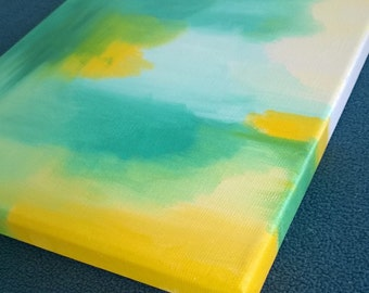 Abstract #8 - Oil on Stretched Canvas - 8 x 10 x 0.5 inches