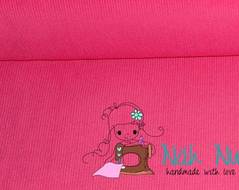 0,5 x 1,40 m NEEDLECORD PINK unicolour, corduroy, 100% cotton