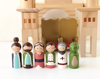 Children's Wooden Toys - Royal Peg Dolls