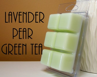Lavender Pear Green Tea Scented Wax Tarts Melts