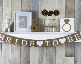 Bridal Shower Banner, Bridal shower Decor, Bride to Be Banner, Wedding Banner