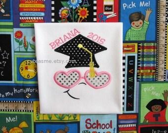 GRADUATION SHIRT 2016 - PERSONALIZED Shirt - Preschool Kindergarten Gradeschool - Name Shirt - Shirt - Toddler - Clothing - Monogram