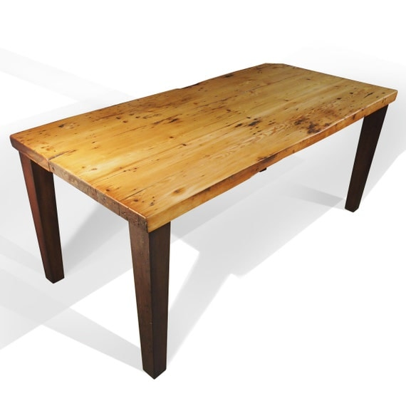 reclaimed kitchen table seats 6 by perfect45degree on etsy