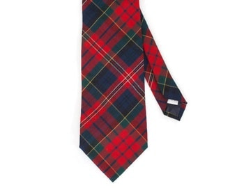 Vintage Pendleton Red Plaid Neck Tie