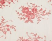 Dahlia Sequin Net Lace Pink 60 inch Fabric by the Yard,1 Yard