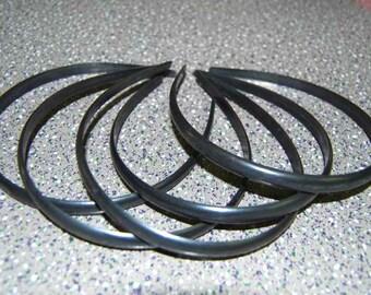 100pcs black/white 10mm plastic hair headband