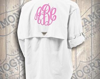 Monogrammed Short Sleeve Fishing Shirt / Columbia PFG