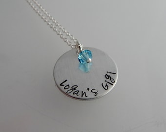 Gigi Necklace - Gigi Gift - Grandmother Jewelry - Custom Hand Stamped Necklace -Mothers Day Gift - Pregnancy Reveal - New Grandmother