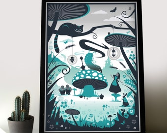 Alice in Wonderland print available to choose in different sizes