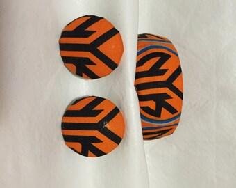 New York Knicks Earring and Cuff Bracelet Set