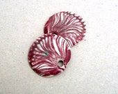 Marsala Porcelain Pendants, Jewlery Supplies, Earring Components, Burgundy Lace Pendants