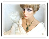 Heartshape Juliana Necklace - Bold Vintage Scrollwork  Necklace  Neck-459a-061111088