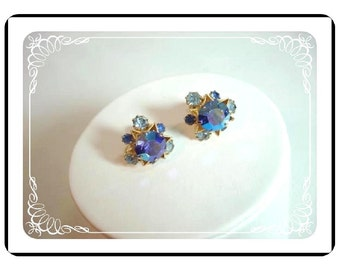 Blue StarLights Earrings - Made in Austria   E145a-04081200