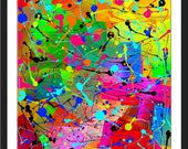 Splatter-LOW COST- Downloadable Art Print-Abstract Art Print-Will Look Great At Home Or Office Wall