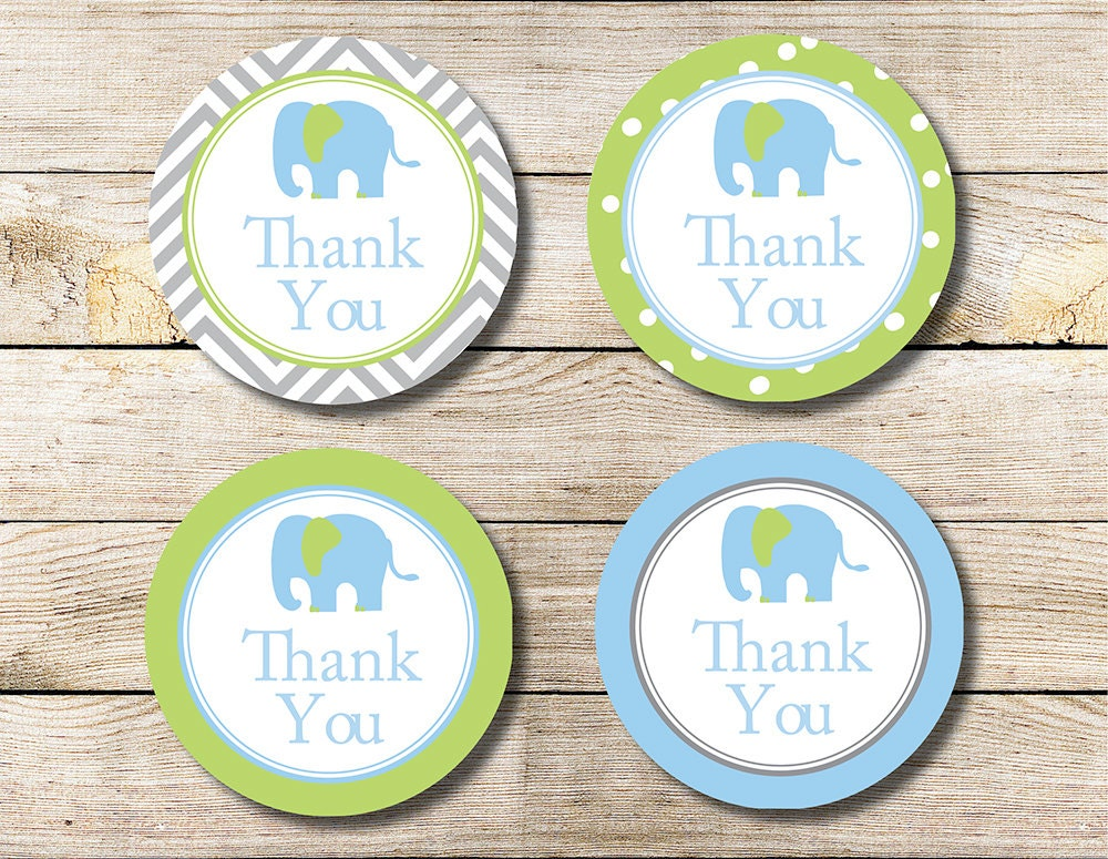 baby shower thank you tags instant download
