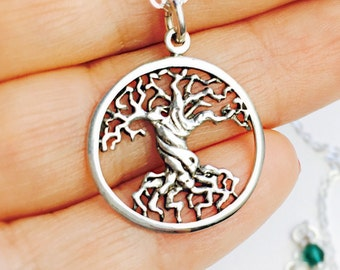 All Sterling Tree Of Life Necklace, Dainty Family Tree Sterling Silver Jewelry