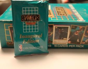1990-91 Skybox NBA basketball trading cards