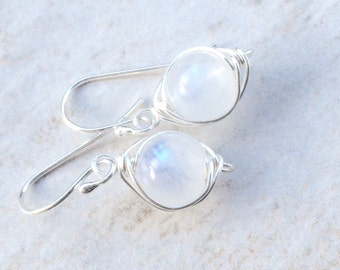 Moonstone Earrings Moonstone Jewelry Silver Jewelry