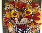 Summer Rooster Wreath