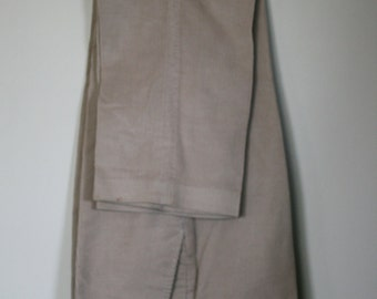 vintage tan corduroy slacks mens size 32W by haggar