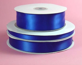 Double Face Satin Ribbon- Royal Blue - 5 Yards