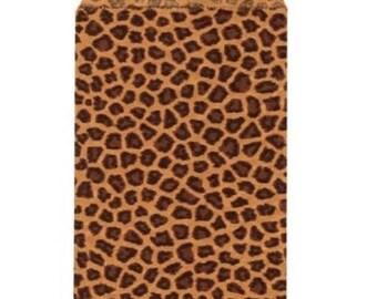 "DAMASK ""Leopard"" Print Kraft Paper Merchandise Bags 2-Sizes ~ Tasteful and Elegant !!"