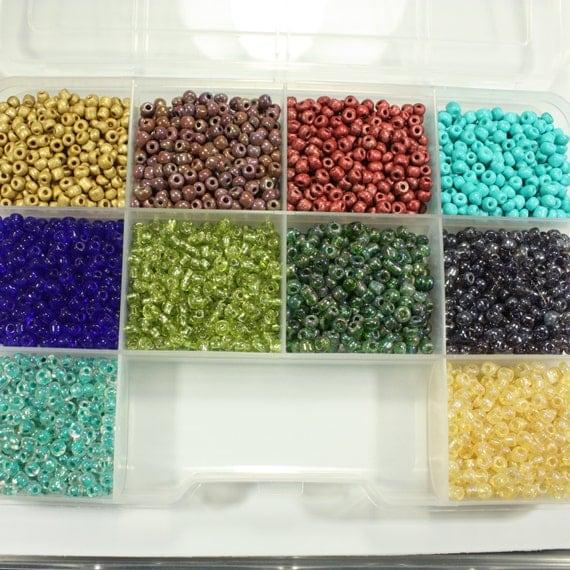 6 0 seed seed bead kit set seed 10 colors 6 0