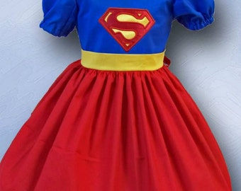 Super Hero Dress,  Super Girl Dress, Super Man Dress, Comic Com Dress , Geek Dress, Birthday Super Hero, Dress-up,  Children Sizes