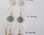 Rutilated crystal earrings neutral tones