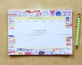 You Can Do It! Weekly Planner Pad, Funny Notepad, Undated Planner