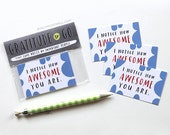 TINY Encouragement Cards, Set of 10: I Notice How Awesome You Are by Emily McDowell / No. 200-T