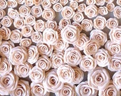 Reserved for Lindsie Nude clay rose flower heads